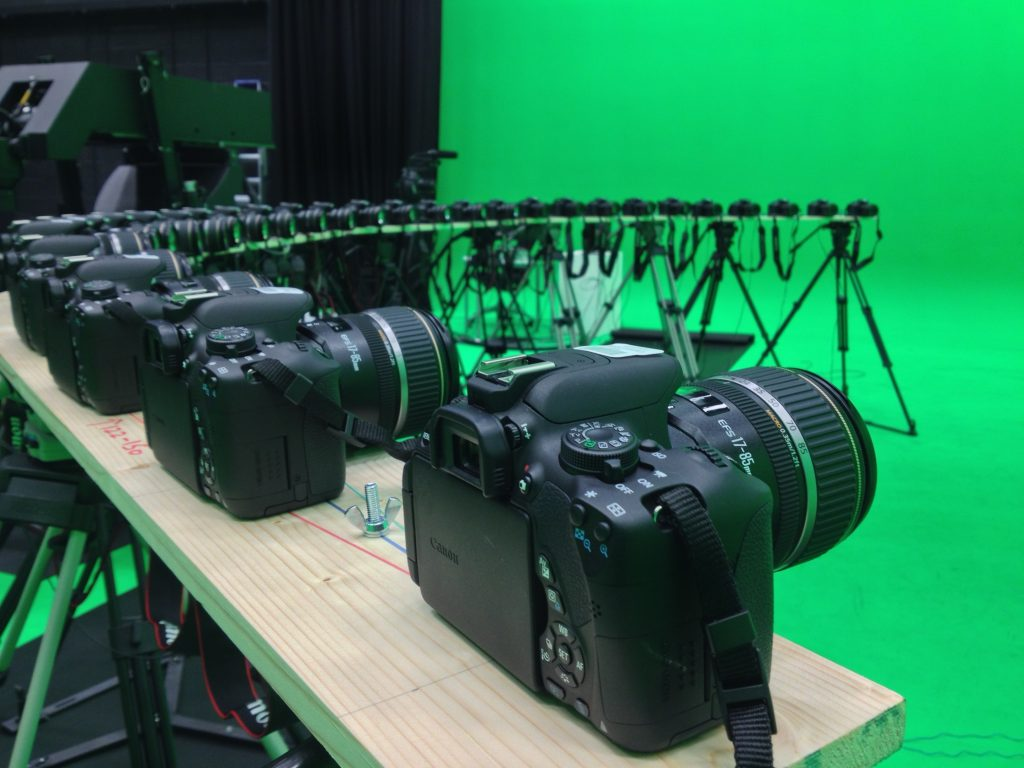 Cameras ready to record bullet time effect