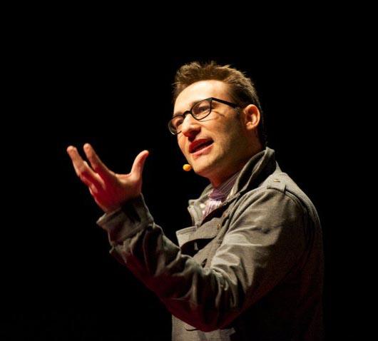 Simon Sinek speaking at TEDx Maastricht in the Netherlands